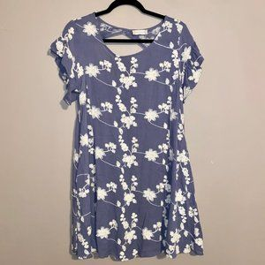 Altard State Floral Ruffle Dress Blue S